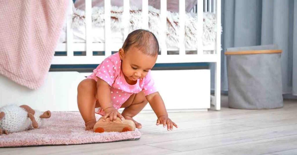 Baby Playing In A Clean Area